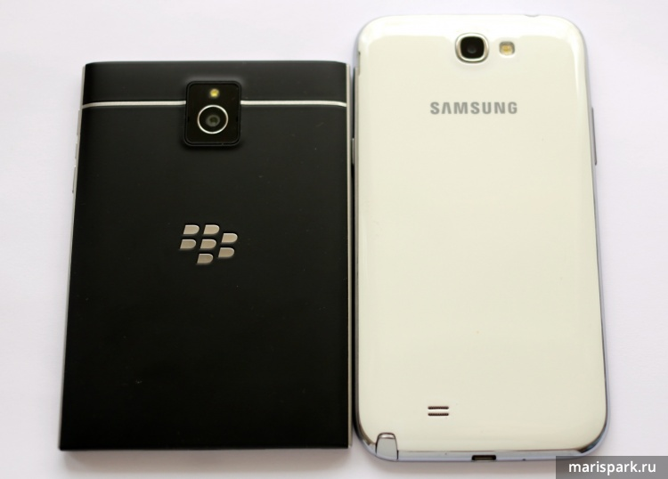 BlackBerry passport and Samsung Galaxy Note 2